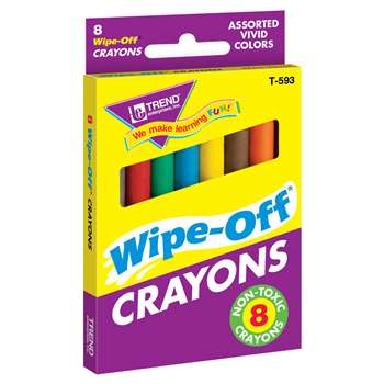 Wipe-Off Crayons Regular 8/Pk By Trend Enterprises