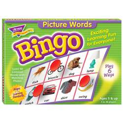 Bingo Picture Words Ages 5 & Up By Trend Enterprises