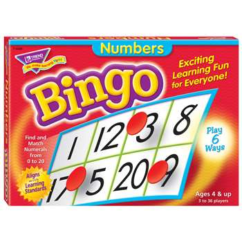 Bingo Numbers Ages 4 & Up By Trend Enterprises