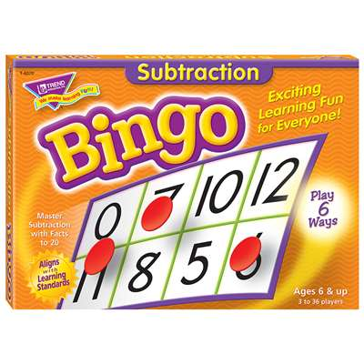 Bingo Subtraction Ages 6 & Up By Trend Enterprises