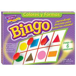 Bingo De Colores Y Figuras Old T086 By Trend Enterprises