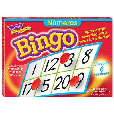 Bingo De Numeros Old T087 By Trend Enterprises