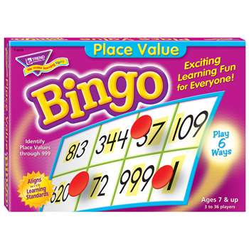 Place Value Bingo Game By Trend Enterprises