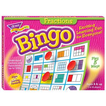 Bingo Fractions Ages 10 & Up By Trend Enterprises