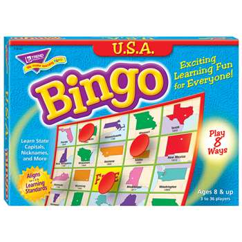 Bingo Usa Ages 8 & Up By Trend Enterprises