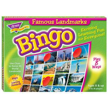 Bingo Famous Landmarks Ages 8 & Up By Trend Enterprises