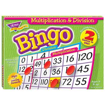 Multiplication & Division Bingo Game By Trend Enterprises