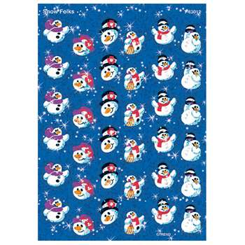 Sparkle Stickers Snow Folks By Trend Enterprises