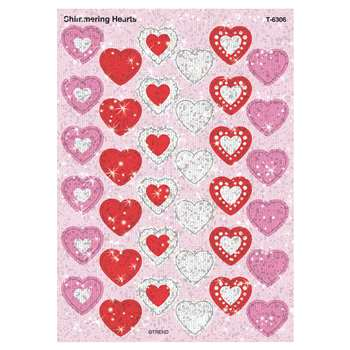 Sparkle Stickers Shimmering Hearts By Trend Enterprises
