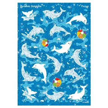 Sparkle Stickers Dynamic Dolphins By Trend Enterprises