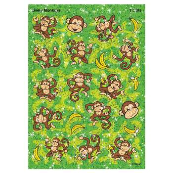 Sparkle Stickers Lively Monkeys By Trend Enterprises