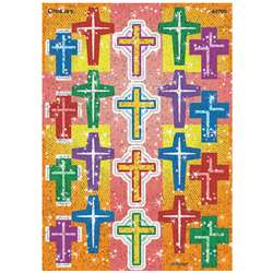 Crosses Sparkle Stickers By Trend Enterprises