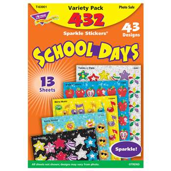 Sparkle Stickers School Days By Trend Enterprises