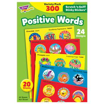 Stinky Stickers Positive Words Acid-Free Variety 300/Pk By Trend Enterprises