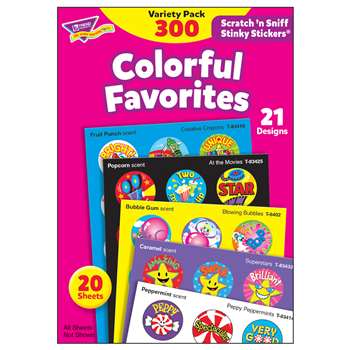 Stinky Stickers Colorful Favorites Acid-Free Variety 300/Pk By Trend Enterprises