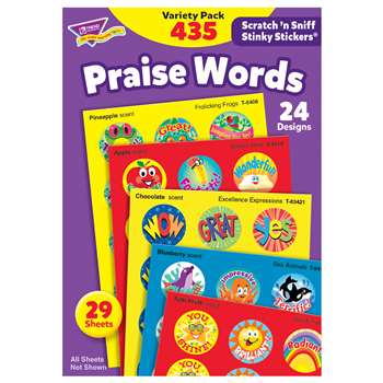 Stinky Stickers Praise Words 435/Pk Jumbo Acid-Free Variety Pk By Trend Enterprises