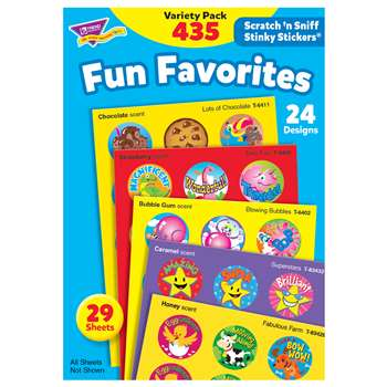 Stinky Stickers Fun Favorites 435Pk Jumbo Acid-Free Variety Pk By Trend Enterprises