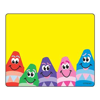 Name Tags Colorful Crayons 36/Pk By Trend Enterprises