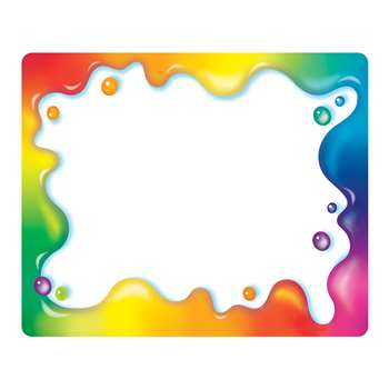 Rainbow Gel Name Tags By Trend Enterprises