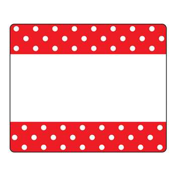 Polka Dots Red Terrific Labels, T-68043