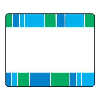 Stripe-Tacular Cool Blue Terrific Labels, T-68044