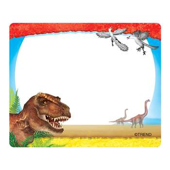 Discovering Dinosaurs Name Tags, T-68085