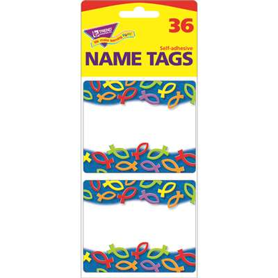 Christian Fish Nt Name Tags By Trend Enterprises