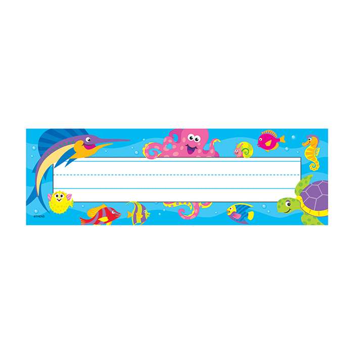 Desk Toppers Under The Sea 36/Pk 2 X 9 By Trend Enterprises