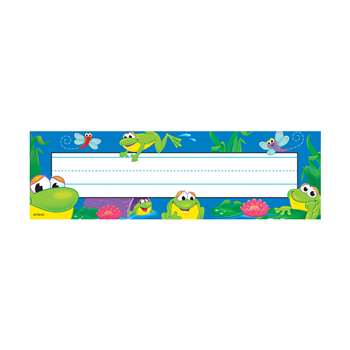 Desk Toppers Frog Pond 36/Pk 2X9 By Trend Enterprises
