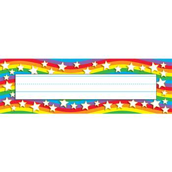 Star Rainbow Desk Toppers Name Plates By Trend Enterprises