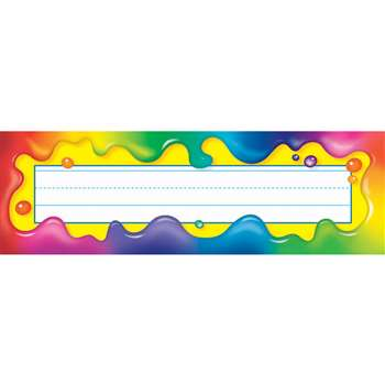 Rainbow Gel Desk Toppers Name Plates By Trend Enterprises