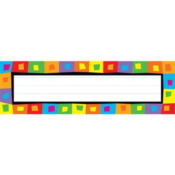 Silly Squares Desk Topper Name Plates By Trend Enterprises