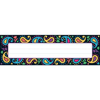 Perfectly Paisley Desk Name Tags By Trend Enterprises