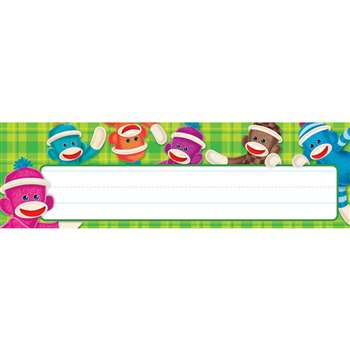 Sock Monkey Desk Name Plates By Trend Enterprises