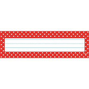 Polka Dots Red Desk Toppers Name Plates, T-69251