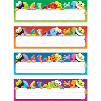 Frog Tastic Name Plates Variety Pack Of 4 Designs 32 Plates By Trend Enterprises