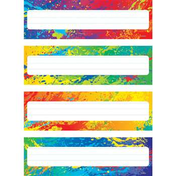 Splashy Colors Name Plates Variety Pack Of 4 Designs 32 Plates By Trend Enterprises