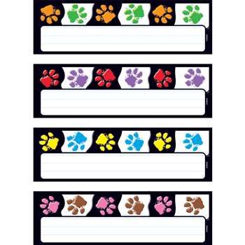Paw Prints Desk Toppers Name Plates Variety Pk By Trend Enterprises