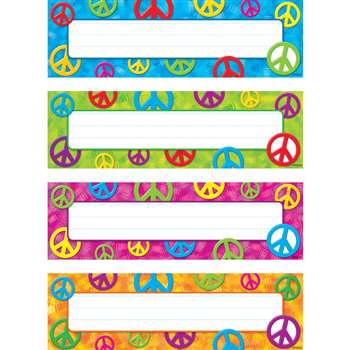Peace Signs Desk Toppers Name Plates Variety Pk By Trend Enterprises