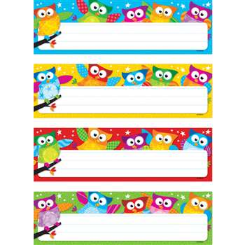 Owl Stars Desk Toppers Name Plates Variety Pack By Trend Enterprises