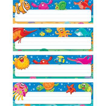 Sea Buddies Desk Toppers Name Plates Variety Pack, T-69948