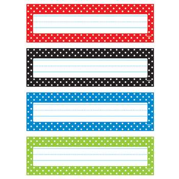 Polka Dots Desk Toppers Name Plates, T-69951