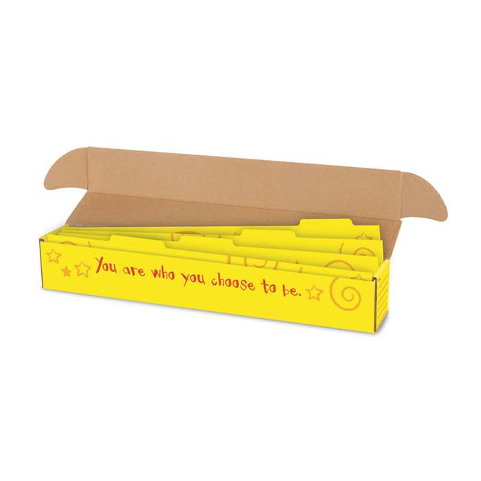 Sentence Strip Storage Box With Dividers 3 X 3 X 26 By Trend Enterprises