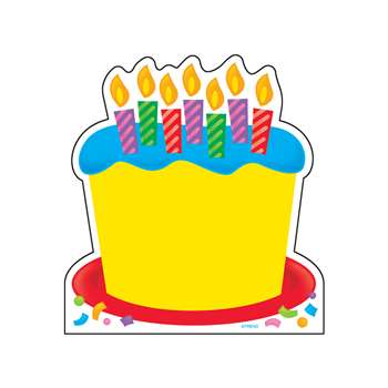 Note Pad Birthday Cake 50 Sht 5X5 Acid-Free By Trend Enterprises