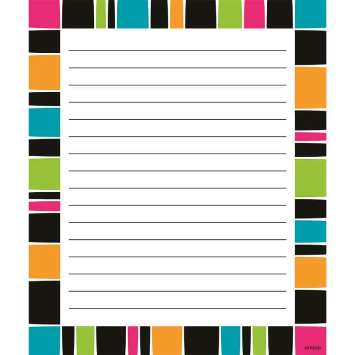 Stripe-Tacular Groovy Note Pad, T-72354