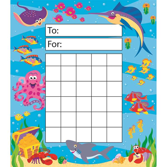 Incentive Pad Under The Sea By Trend Enterprises