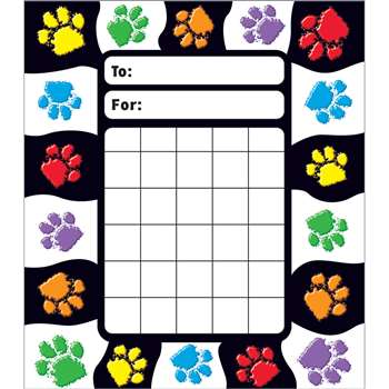 Paw Prints Incentive Pad By Trend Enterprises