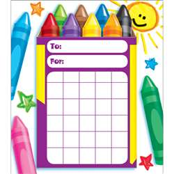 Colorful Crayons Incentive Pad By Trend Enterprises