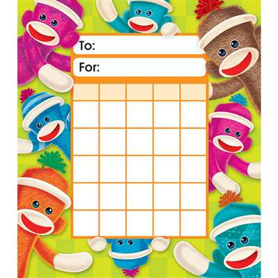Sock Monkeys Incentive Pads By Trend Enterprises