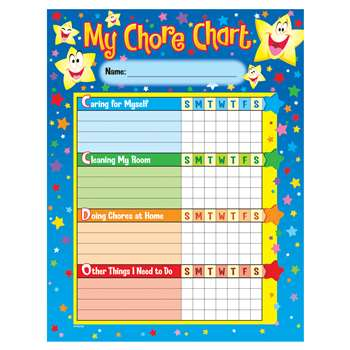 Chore Charts Stars 25 Charts 8-1/2 X 11 By Trend Enterprises